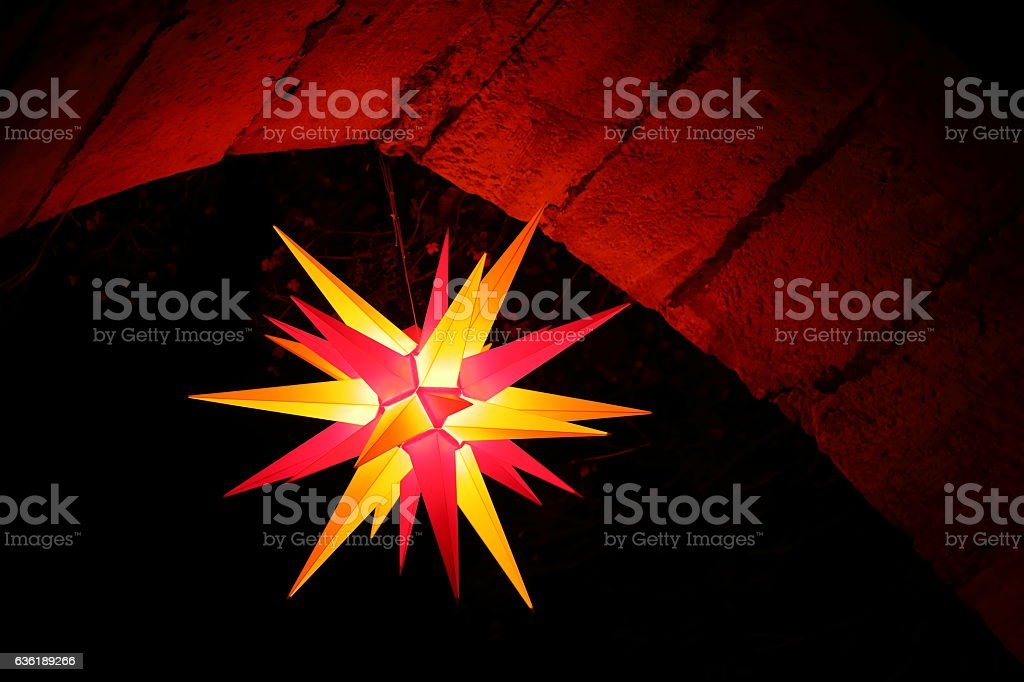 Christmas Star at Night stock photo