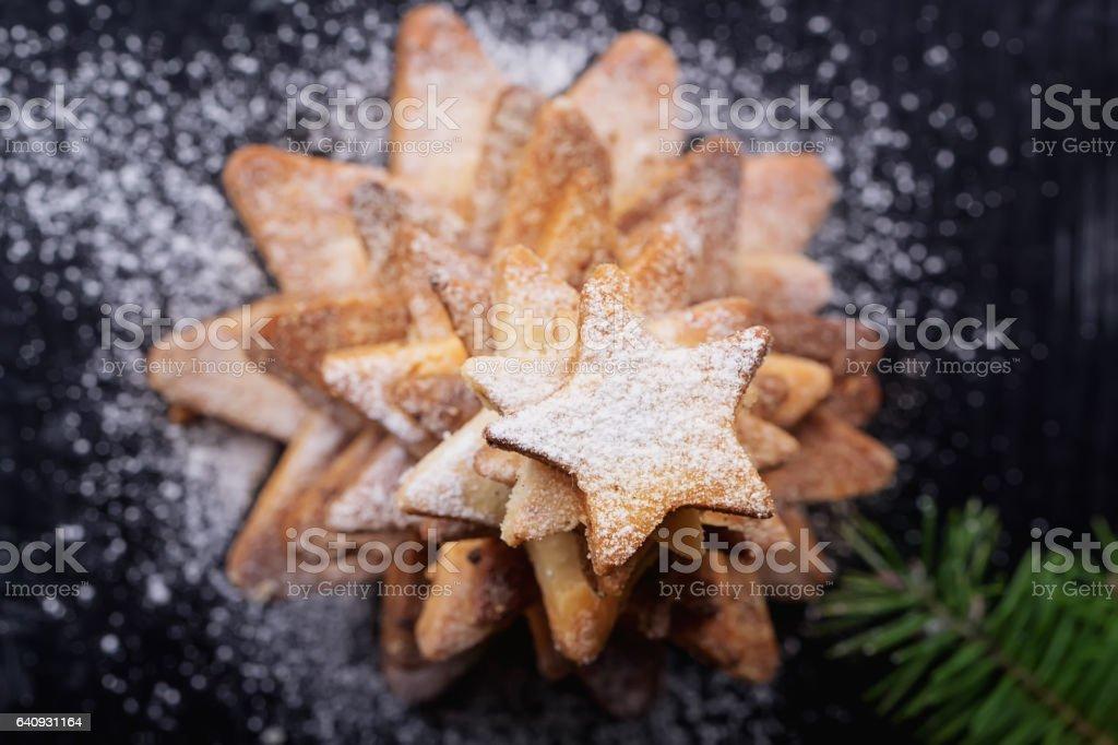 Christmas Star Cookies stock photo