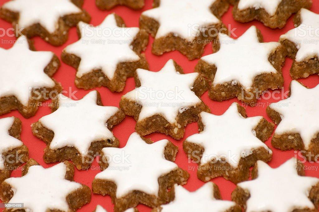 Christmas Star Cookies royalty-free stock photo