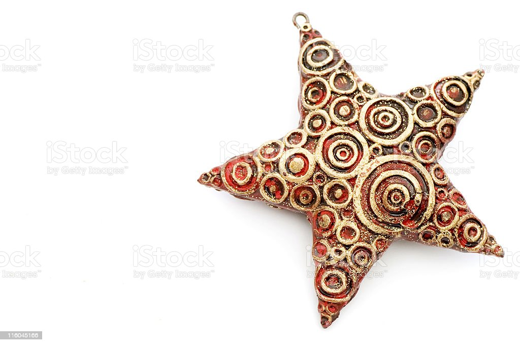 Christmas Star Decoration royalty-free stock photo