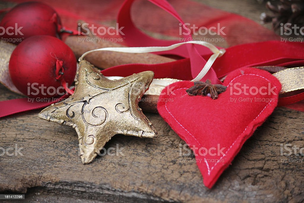 Christmas Star gold stock photo