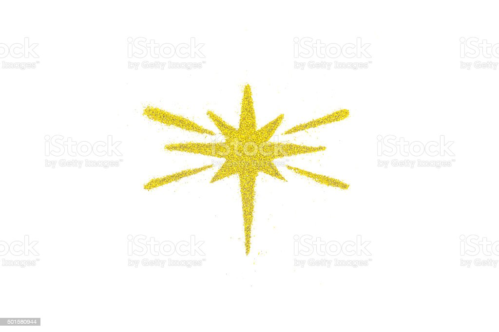 Christmas star isolated on white background stock photo