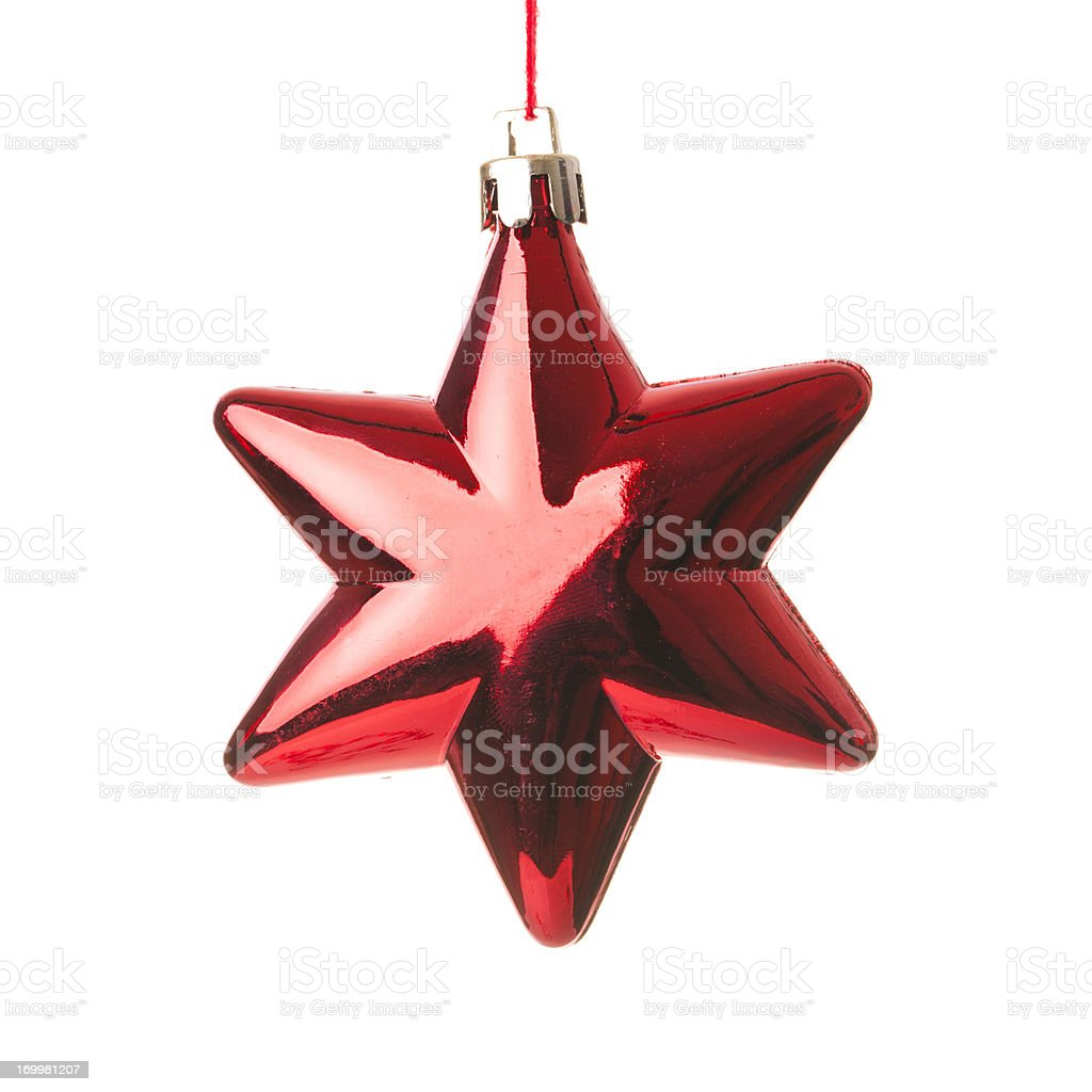 Christmas star, isolated on white royalty-free stock photo