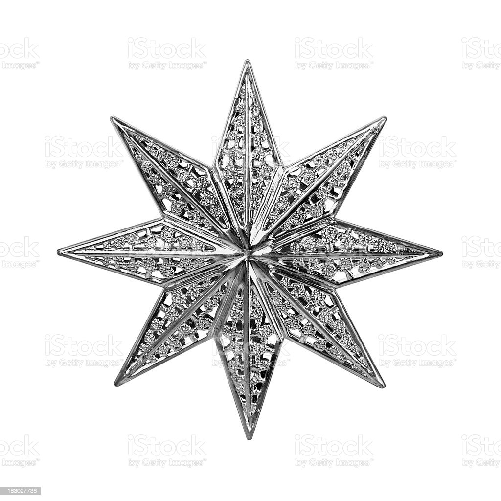 Christmas Star Isolated royalty-free stock photo