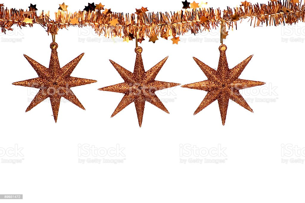 Christmas Star Ornaments royalty-free stock photo