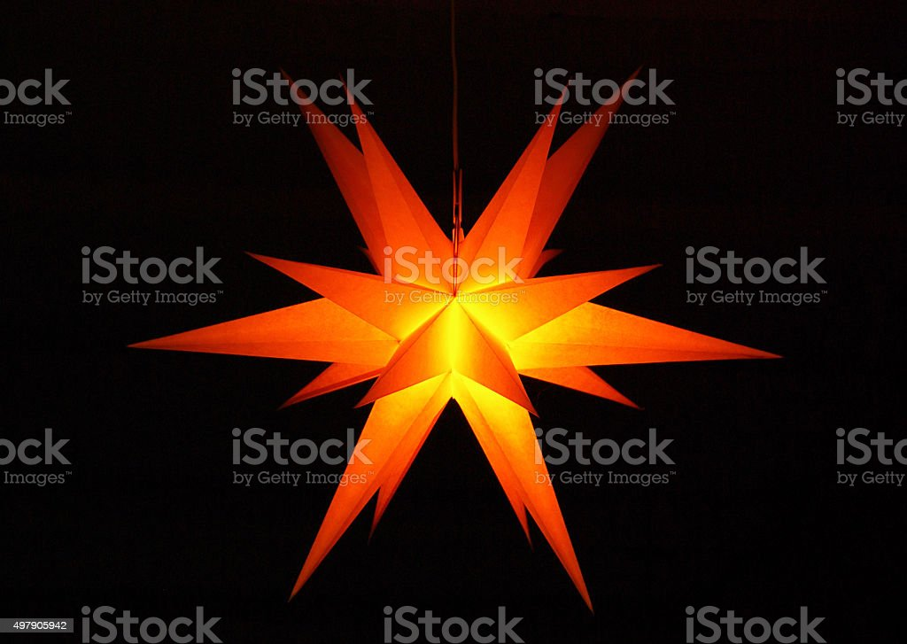 christmas star stock photo