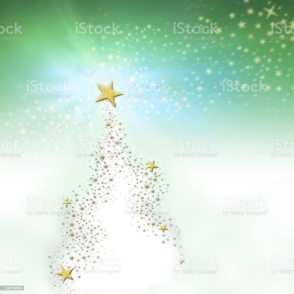 Christmas Star Tree royalty-free stock photo