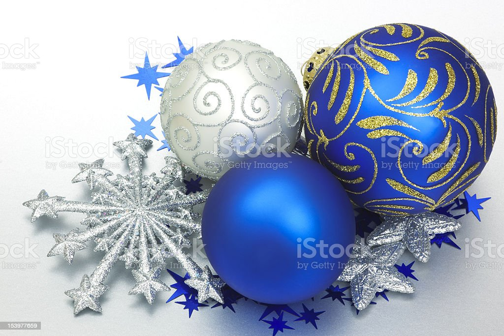 Christmas Stars & Baubles stock photo