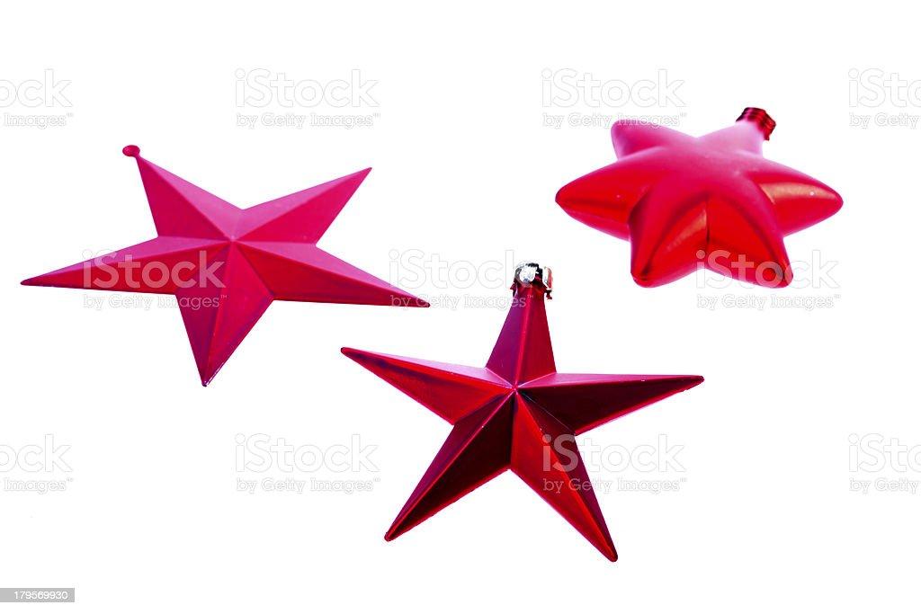 Christmas stars, isolated on white royalty-free stock photo