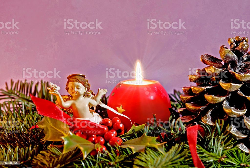 Christmas Still Life with Angel stock photo