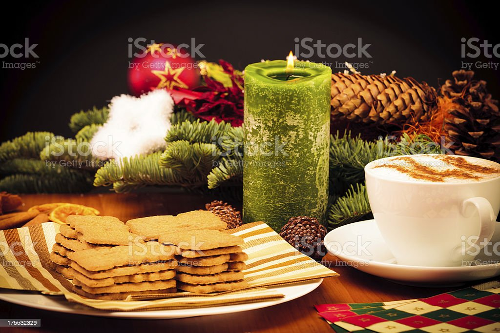 christmas still life with cookies stock photo