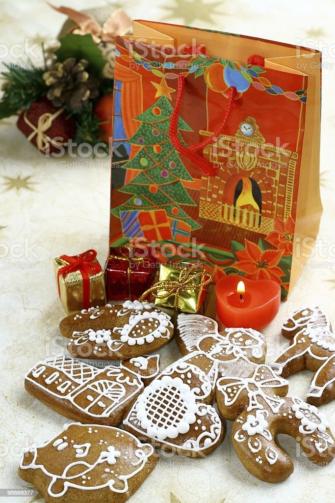 Christmas still life with  gingerbread royalty-free stock photo