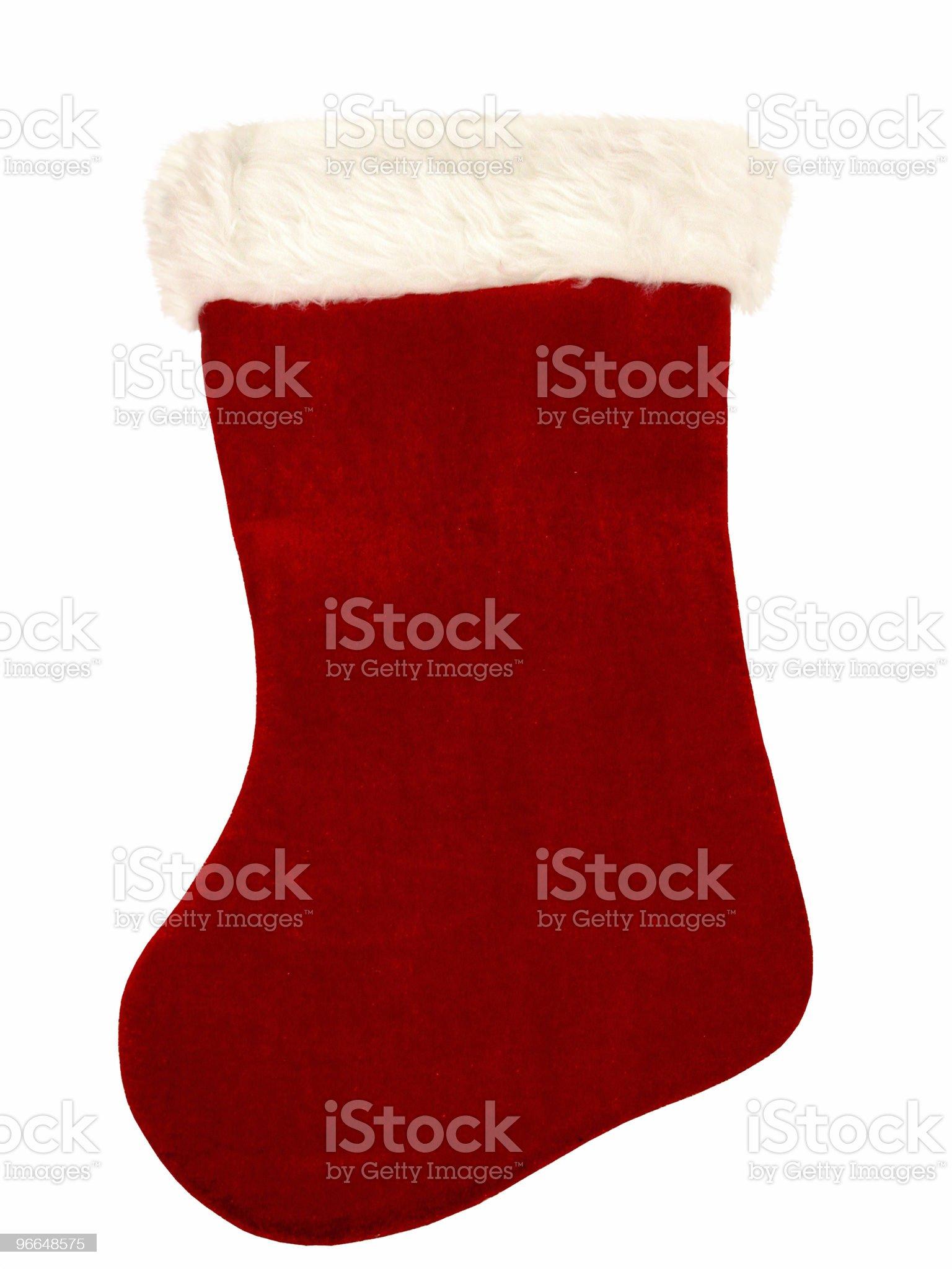 Christmas Stocking on White royalty-free stock photo