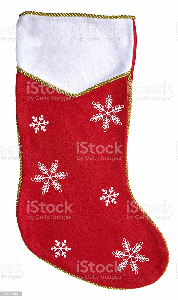 Christmas Stocking (Clip Path) royalty-free stock photo