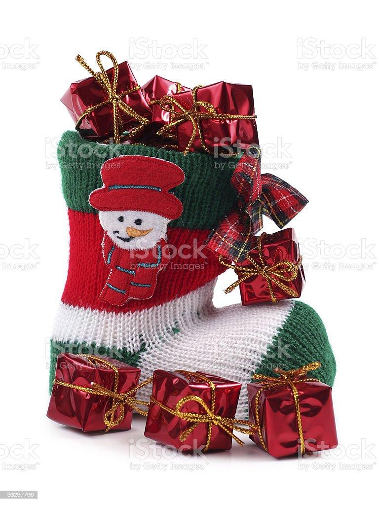 Christmas stocking royalty-free stock photo