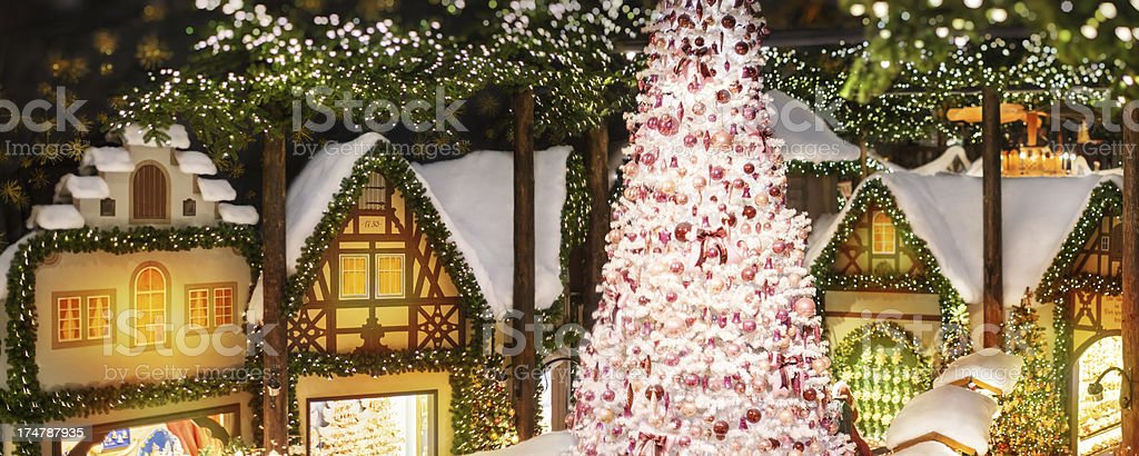 Christmas store with decorations royalty-free stock photo