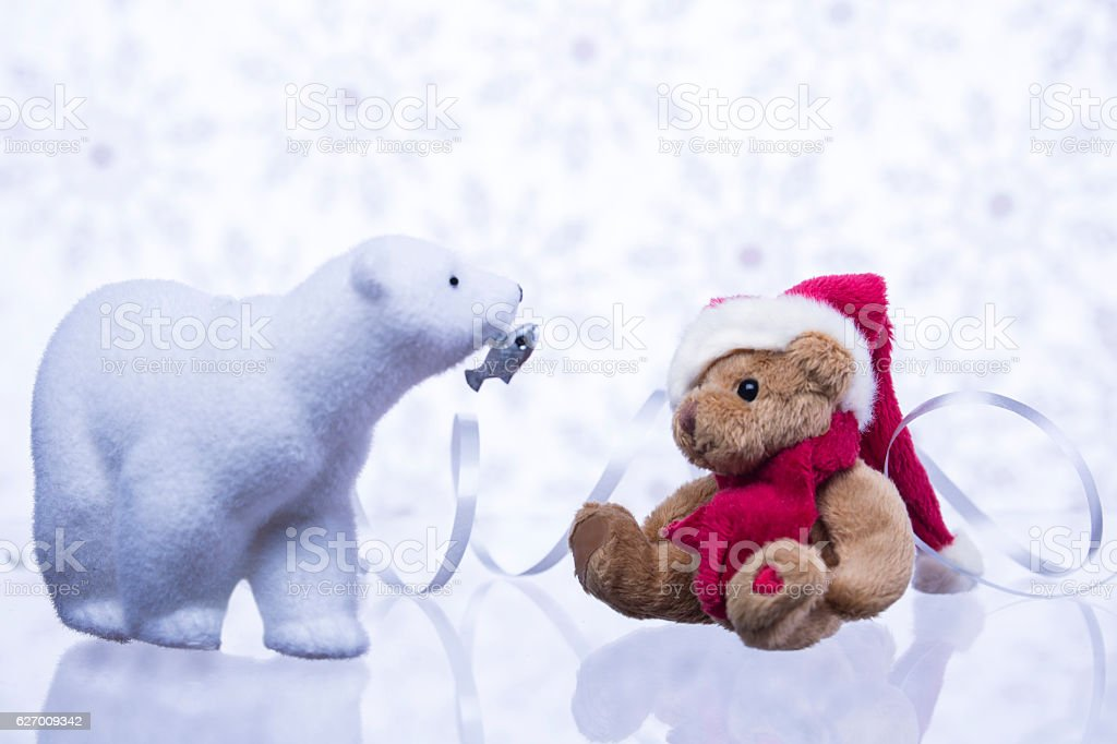 Christmas story about bears. stock photo