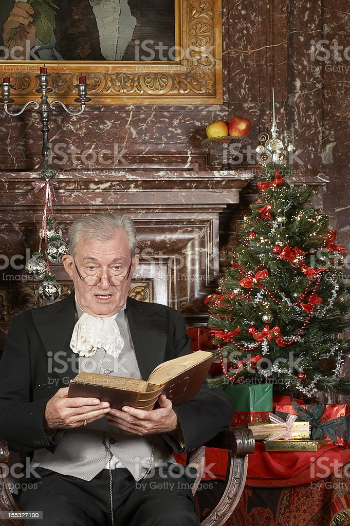 Christmas story in a castle royalty-free stock photo