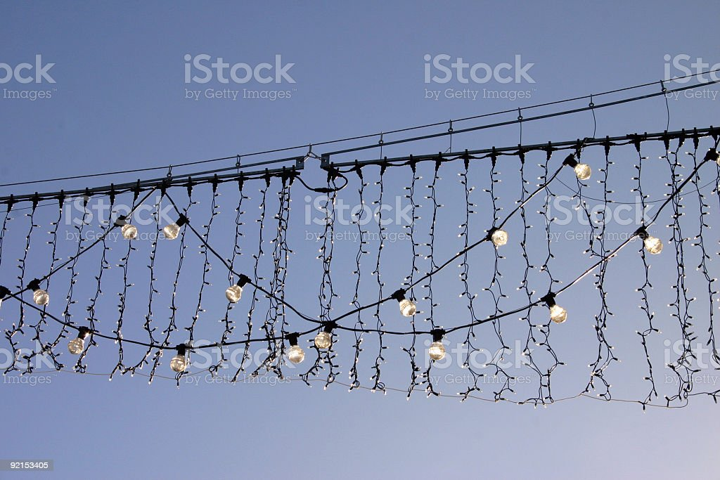 Christmas Street Lights in Daytime royalty-free stock photo