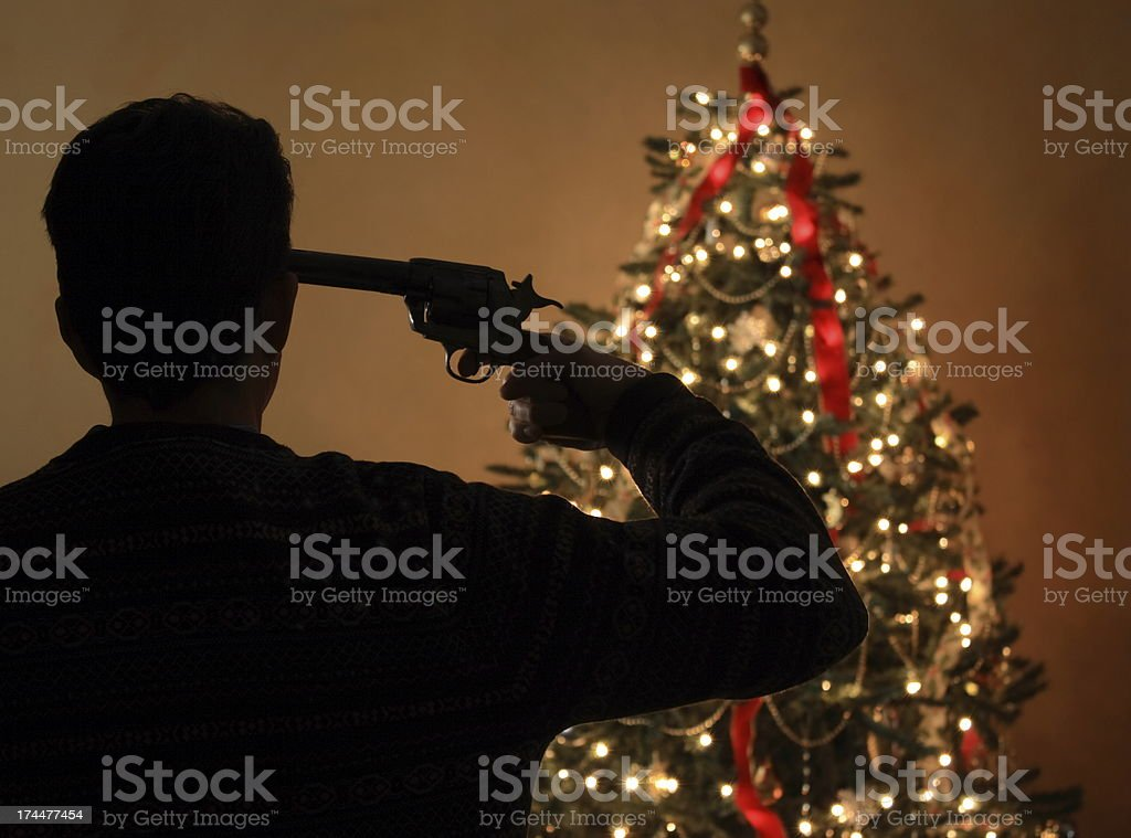 Christmas Suicide Horizontal stock photo