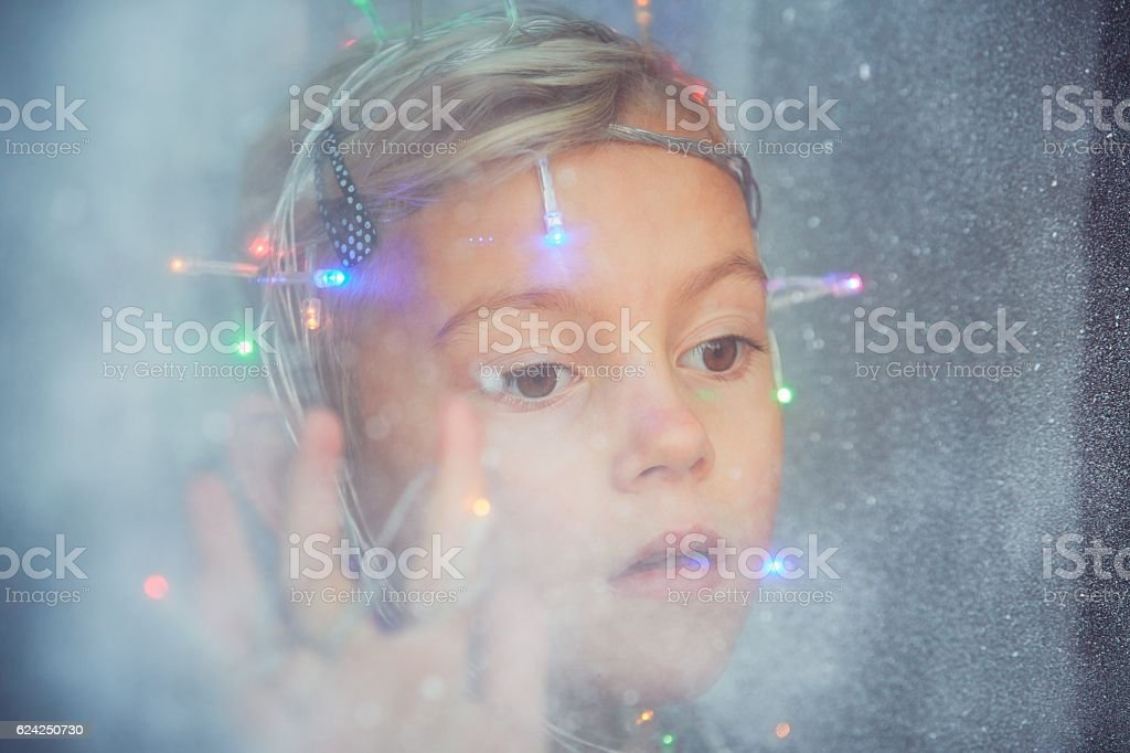 Christmas surprise is coming stock photo