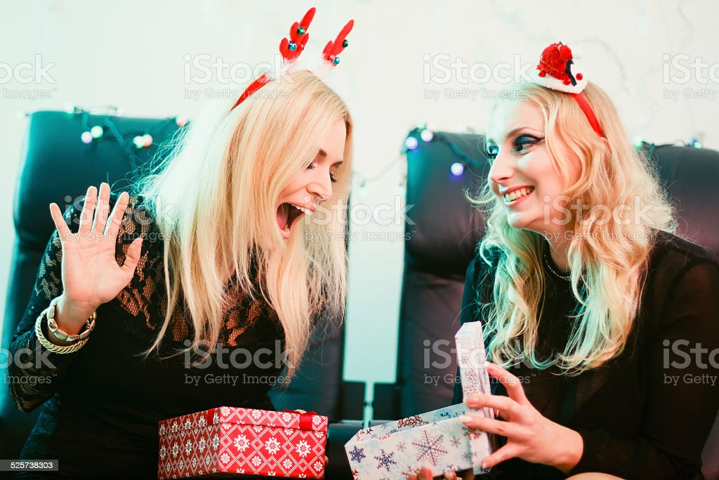 Christmas surprise stock photo