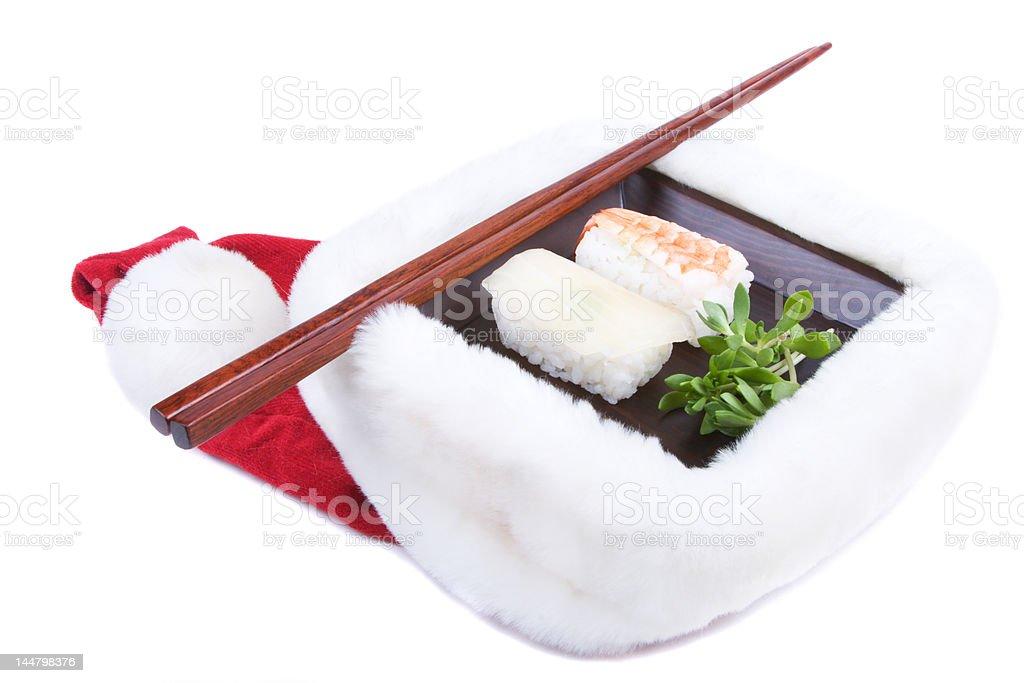 Christmas sushi royalty-free stock photo