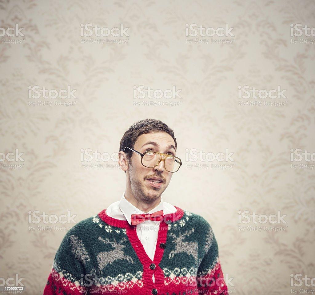 Christmas Sweater Nerd stock photo