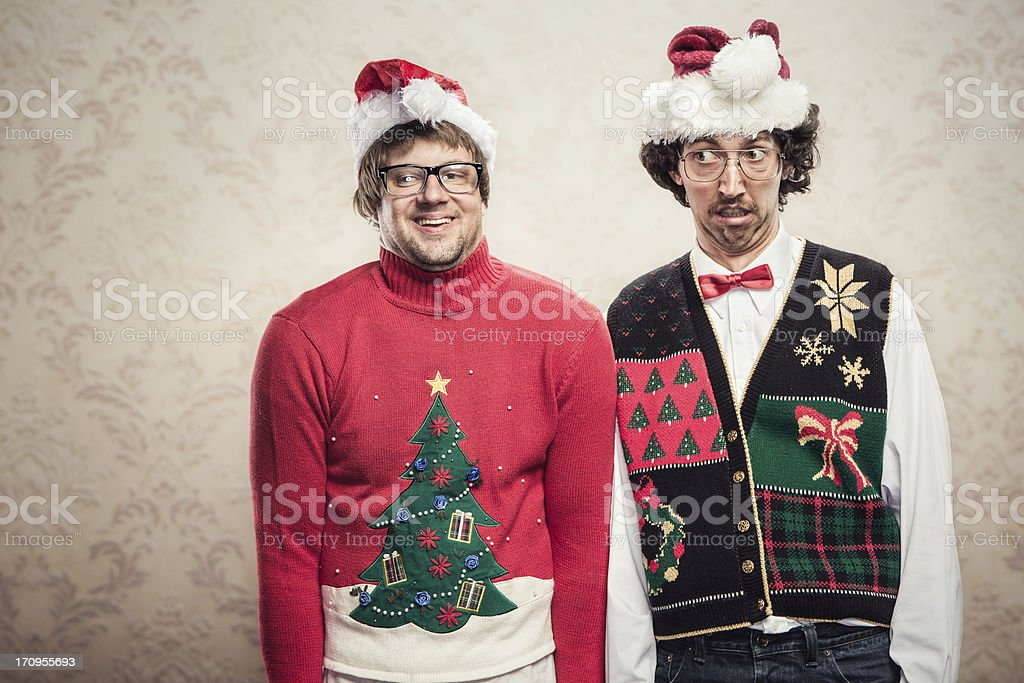 Christmas Sweater Nerds stock photo