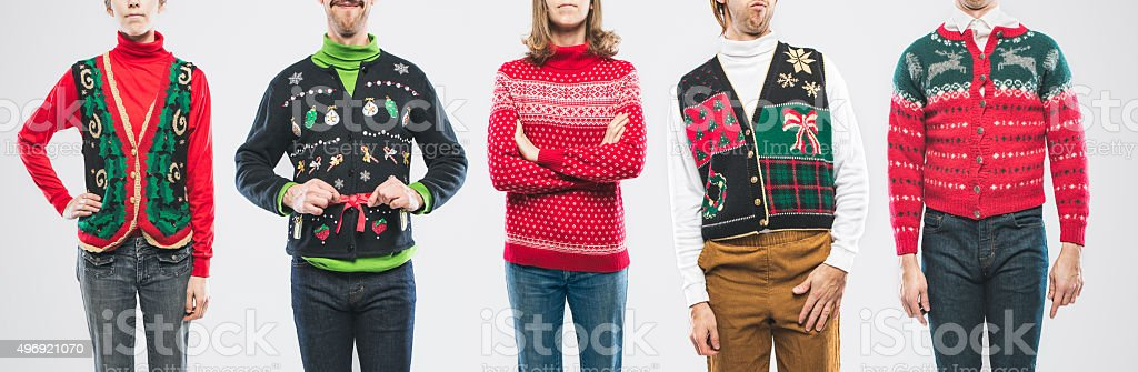 Christmas Sweater People stock photo