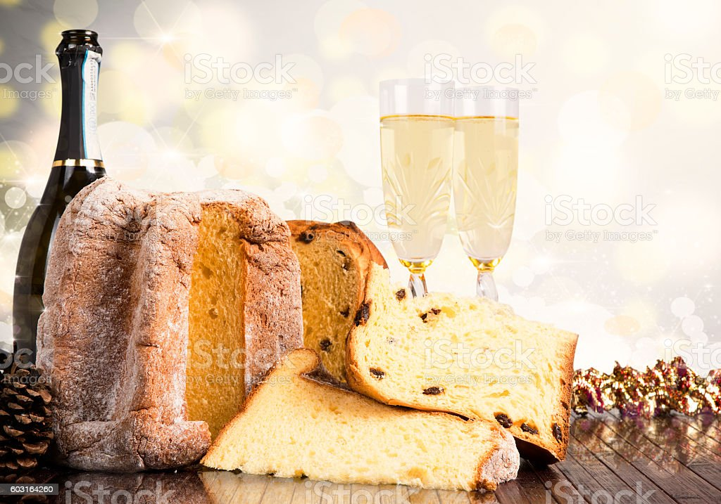 Christmas sweets and wines stock photo