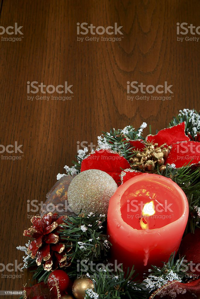Christmas Table Decoration Celebrating Birth of Jesus Christ stock photo