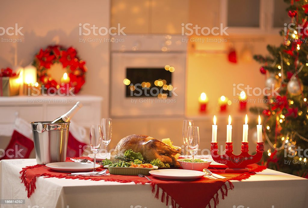 Christmas table. royalty-free stock photo