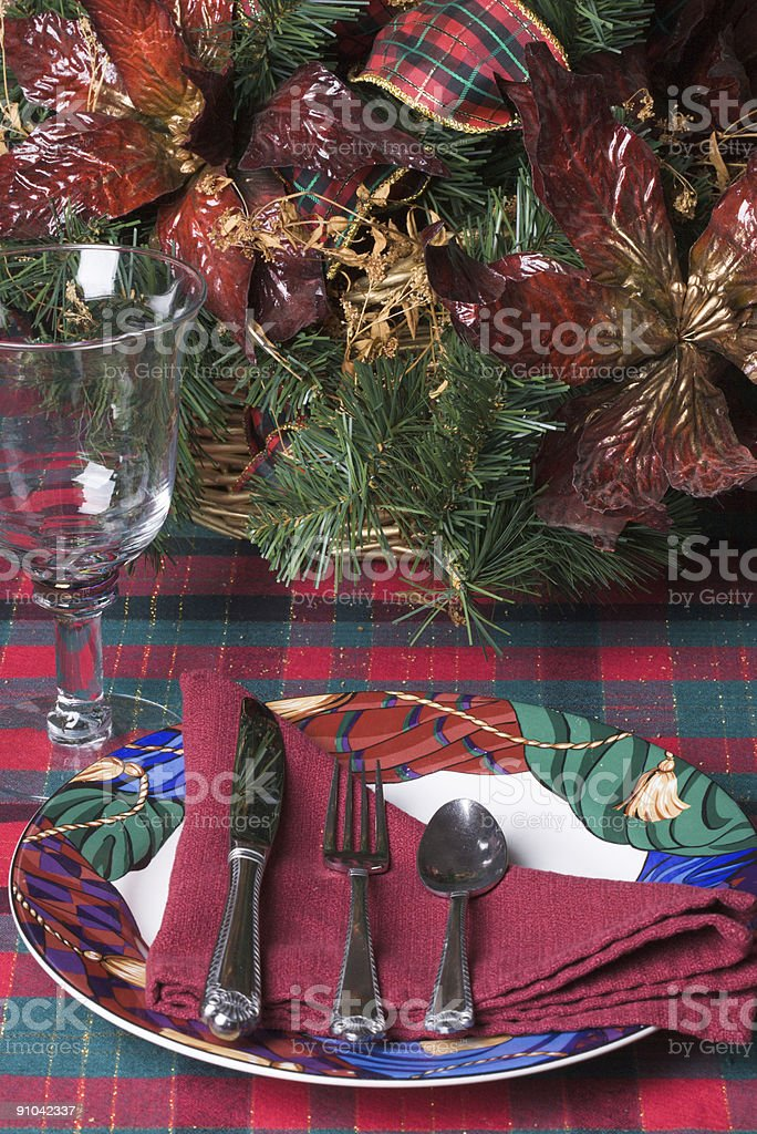 Christmas Table Setting royalty-free stock photo