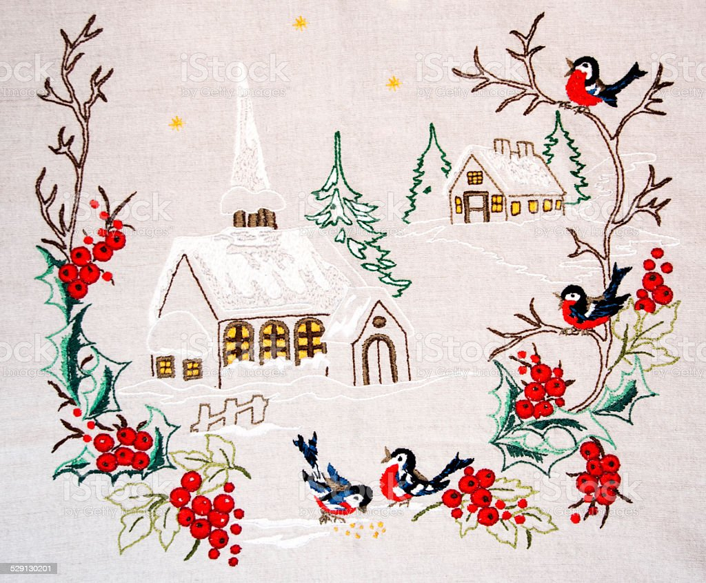 Manteles de Navidad foto de stock libre de derechos