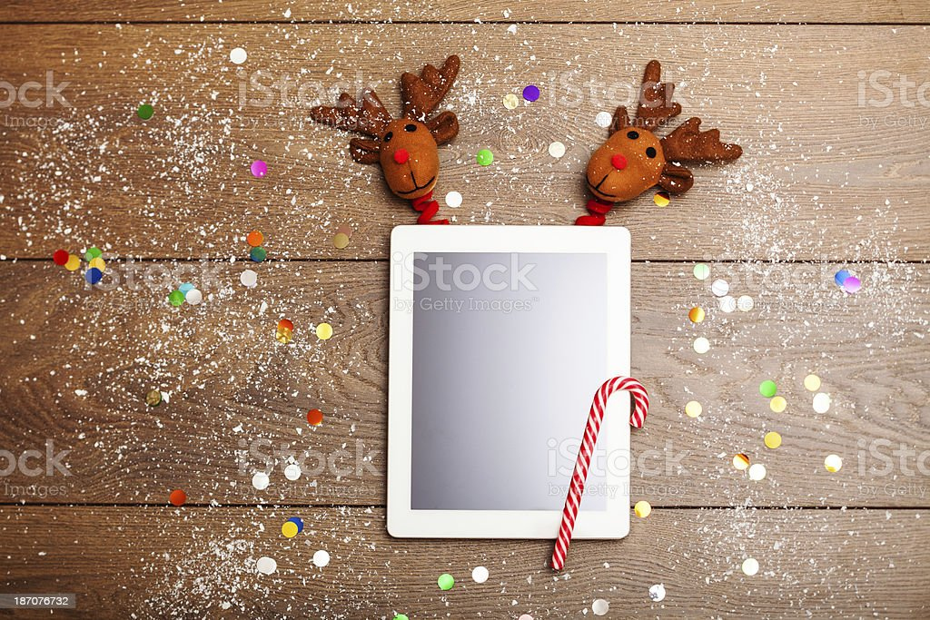 Christmas tablet PC royalty-free stock photo