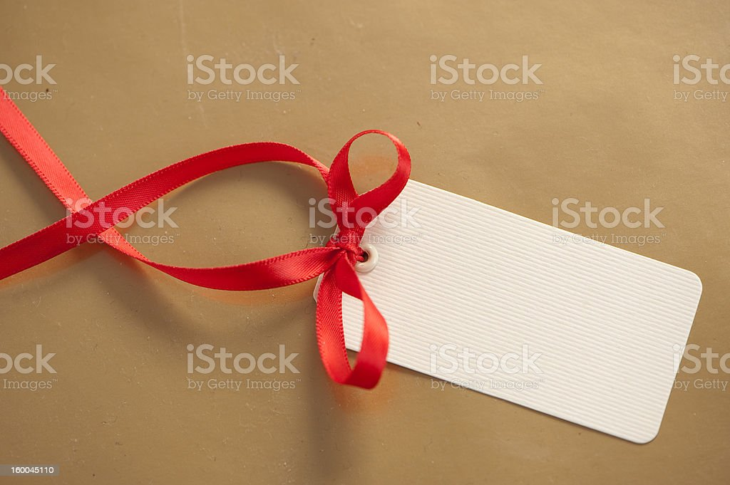Christmas tag stock photo
