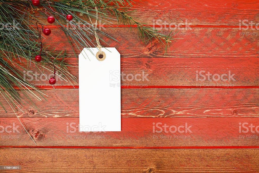 Christmas Tag royalty-free stock photo