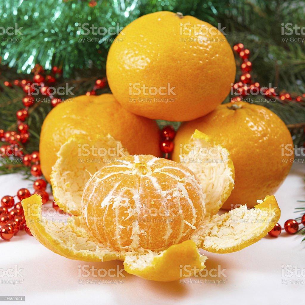Christmas tangerine royalty-free stock photo