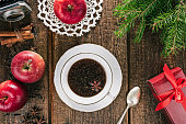 Christmas tea, apples and spices