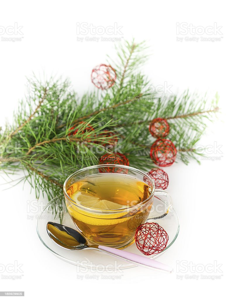Christmas tea royalty-free stock photo