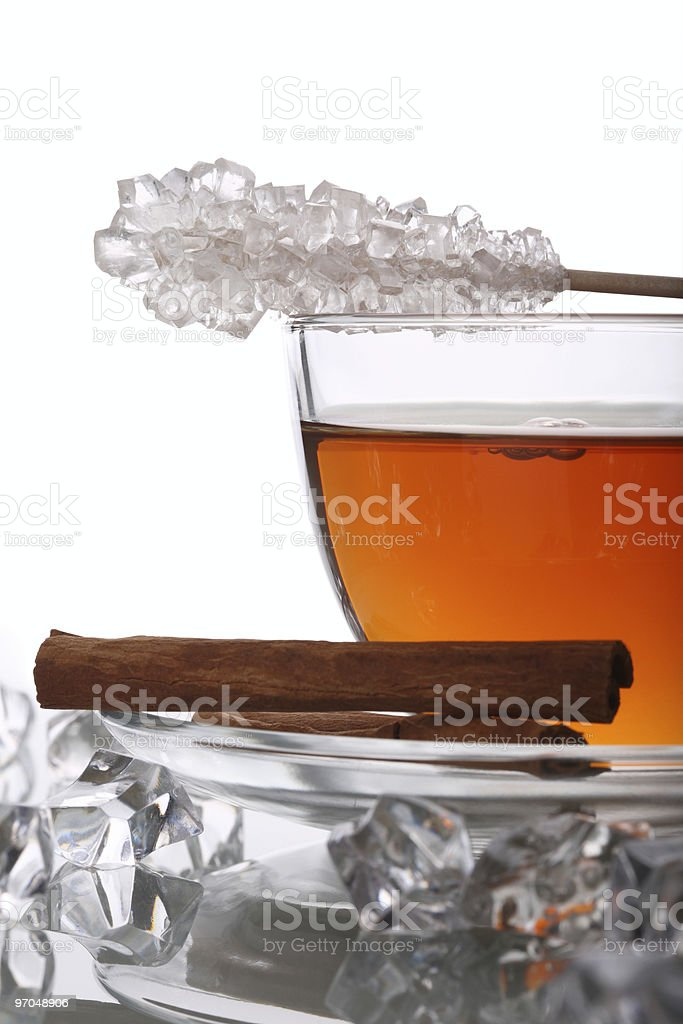 Christmas Tea with Cinnamon and Rock Candy royalty-free stock photo