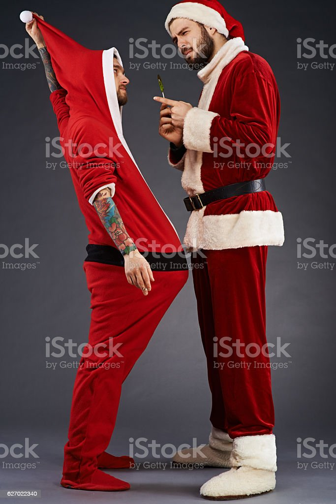 Christmas telling off stock photo