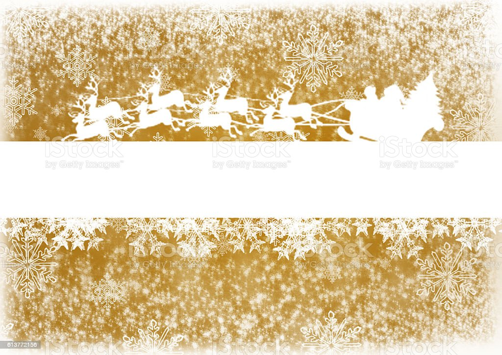 Christmas text background with Santa stock photo