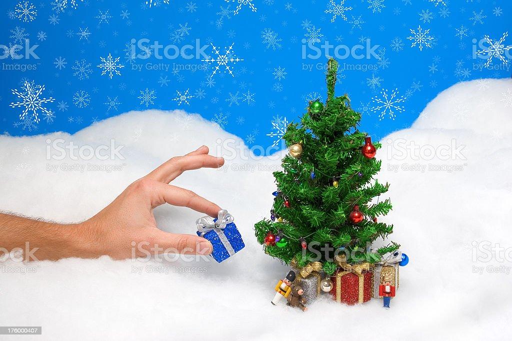 Christmas: The Last Gift stock photo