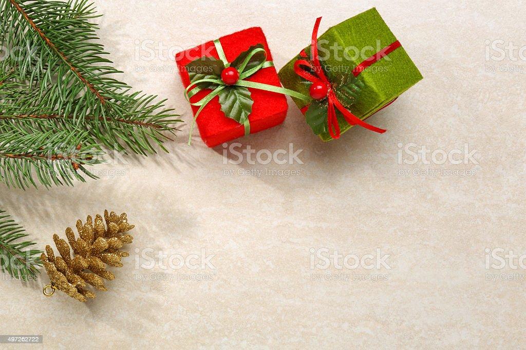 Christmas Theme Background Frame stock photo