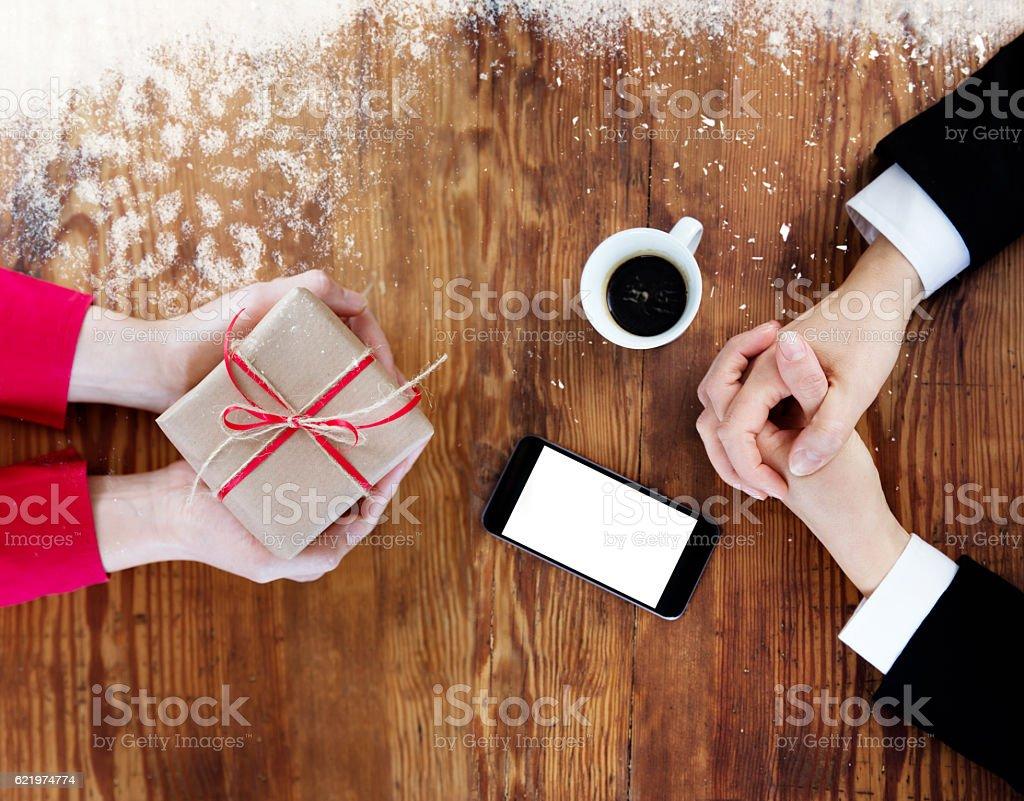 Christmas Time – Business Playtime During Christmas Holidays stock photo