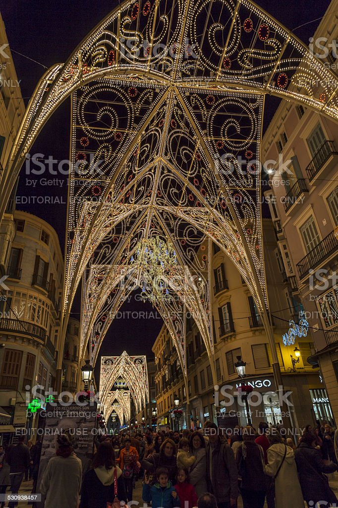 Christmas Time In Malaga. stock photo