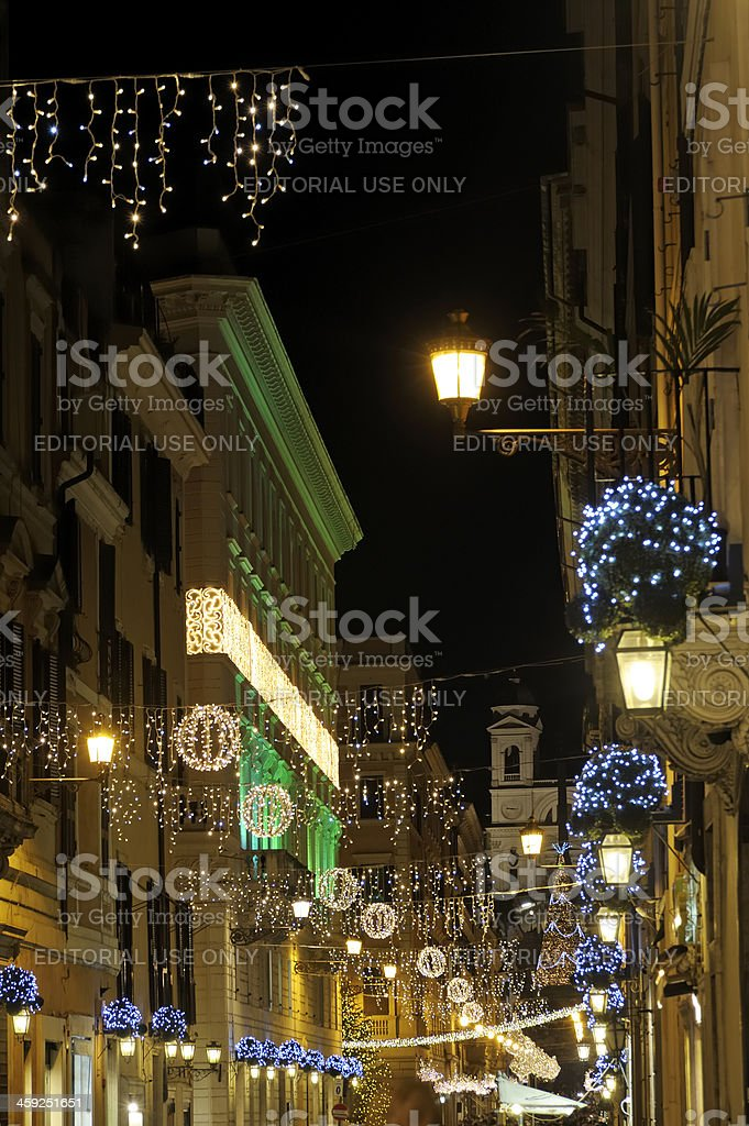 Christmas Time in Rome royalty-free stock photo