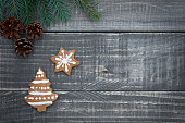 Christmas time on the wooden planks